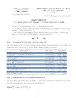 Nghị quyết đại hội cổ đông ngày 24-05-2011 - Công  ty Cổ phần Xây dựng và Kinh doanh Địa ốc Tân Kỷ