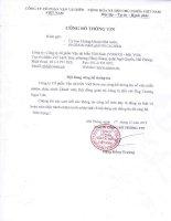 Nghị quyết Hội đồng Quản trị - Công ty Cổ phần Vận tải biển Việt Nam