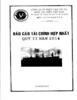 Báo cáo tài chính hợp nhất quý 2 năm 2014 - Công ty Cổ phần Vận tải và Thuê tàu biển Việt Nam