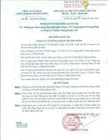Nghị quyết Hội đồng Quản trị - Công ty cổ phần Chứng khoán Phương Đông