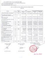 Báo cáo KQKD hợp nhất quý 4 năm 2012 - Công ty Cổ phần Đầu tư và Xây dựng Bưu điện