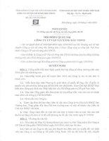 Nghị quyết Hội đồng Quản trị - Công ty Cổ phần Vận tải Xăng dầu VIPCO