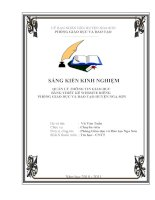 SKKN Thiết kế  Webside  riêng để quản lý thông tin PGD  ĐT Nga Sơn  Thanh Hóa 2016