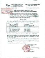 Nghị quyết Hội đồng Quản trị ngày 14-4-2011 - Công ty Cổ phần Đầu tư Phát triển Thương mại Viễn Đông