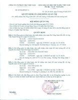Nghị quyết Hội đồng Quản trị - Công ty Cổ phần Nhà Việt Nam