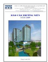 Báo cáo thường niên năm 2009 - Công ty Cổ phần Đầu tư và Phát triển Dự án Hạ tầng Thái Bình Dương