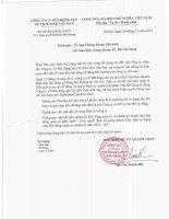 Nghị quyết Đại hội cổ đông bất thường - Công ty Cổ phần Bất động sản Du lịch Ninh Vân Bay
