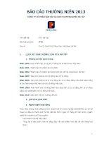 Báo cáo thường niên năm 2013 - Công ty Cổ phần Vận tải và Dịch vụ Petrolimex Hà Tây