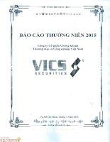 Báo cáo thường niên năm 2015 - Công ty Cổ phần Chứng khoán Thương mại và Công nghiệp Việt Nam
