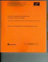 Báo cáo tài chính năm 2013 (đã kiểm toán) - Công ty cổ phần Cấp nước Phú Hòa Tân