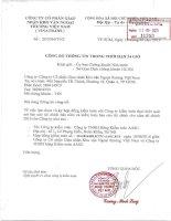 Nghị quyết Hội đồng Quản trị - CTCP Giao nhận Kho vận Ngoại thương Việt Nam