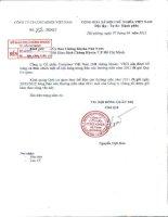 Báo cáo thường niên năm 2011 - Công ty cổ phần Tập đoàn Container Việt Nam