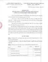 Nghị quyết Đại hội cổ đông thường niên năm 2013 - CTCP Phát triển Hàng hải