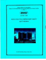 Báo cáo tài chính hợp nhất quý 3 năm 2014 - Công ty Cổ phần Đầu tư và Xây dựng Cấp thoát nước