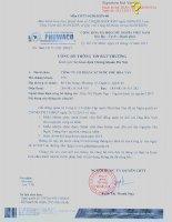 Nghị quyết Hội đồng Quản trị - Công ty cổ phần Cấp nước Phú Hòa Tân