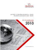 Báo cáo thường niên năm 2010 - Quỹ Đầu tư Cân bằng Prudential