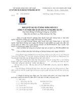 Nghị quyết Hội đồng Quản trị - Công ty Cổ phần Vận tải và Dịch vụ Petrolimex Hà Tây