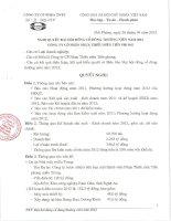 Nghị quyết Đại hội cổ đông thường niên năm 2012 - Công ty Cổ phần Nhựa Thiếu niên Tiền Phong