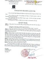Nghị quyết Hội đồng Quản trị - Công ty cổ phần Vận tải và Dịch vụ Petrolimex Sài Gòn