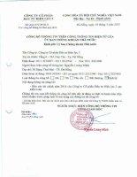 Báo cáo tài chính năm 2014 (đã kiểm toán) - CTCP Đầu tư Điện lực 3