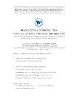 Bản cáo bạch - Công ty cổ phần Cấp nước Phú Hòa Tân