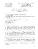 Báo cáo thường niên năm 2013 - Công ty Cổ phần Thiết bị Bưu điện