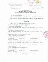 Nghị quyết Đại hội cổ đông bất thường ngày 27-11-2013 - Công ty Cổ phần Đầu tư và Phát triển Năng lượng Việt Nam
