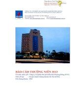 Báo cáo thường niên năm 2012 - Công ty cổ phần Du lịch Dầu khí Phương Đông