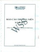 Báo cáo thường niên năm 2011 - Công ty Cổ phần Chứng khoán Phố Wall