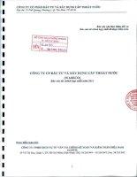 Báo cáo tài chính hợp nhất năm 2011 (đã kiểm toán) - Công ty Cổ phần Đầu tư và Xây dựng Cấp thoát nước