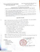 Nghị quyết Hội đồng Quản trị - Công ty Cổ phần Sản xuất Thương mại Dịch vụ Phú Phong