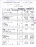 Báo cáo tài chính quý 3 năm 2012 - Công ty Cổ phần Chứng khoán Đại Dương