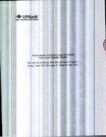 Báo cáo tài chính hợp nhất quý 1 năm 2015 - Ngân hàng Thương mại Cổ phần Việt Nam Thịnh Vượng
