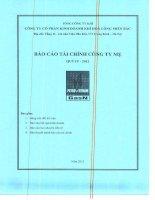 Báo cáo tài chính công ty mẹ quý 4 năm 2012 - Công ty Cổ phần Kinh doanh Khí hóa lỏng Miền Bắc