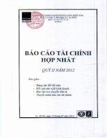 Báo cáo tài chính hợp nhất quý 2 năm 2012 - Công ty Cổ phần Kinh doanh Khí hóa lỏng Miền Nam
