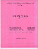 Báo cáo tài chính công ty mẹ quý 3 năm 2010 - Tổng Công ty Dung dịch khoan và Hóa phẩm Dầu khí-CTCP
