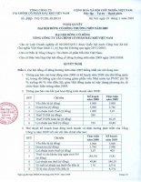 Nghị quyết đại hội cổ đông ngày 29-03-2009 - Tổng Công ty Tài chính Cổ phần Dầu khí Việt Nam