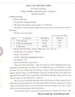 Báo cáo thường niên năm 2015 - CTCP Du lịch Tỉnh Bà Rịa - Vũng Tàu