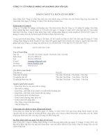 Báo cáo tài chính năm 2009 (đã kiểm toán) - Công ty Cổ phần Xi măng và Khoáng sản Yên Bái