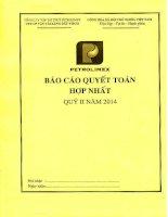 Báo cáo tài chính hợp nhất quý 2 năm 2014 - Công ty Cổ phần Vận tải Xăng dầu VIPCO