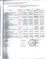 Báo cáo KQKD hợp nhất quý 1 năm 2012 - Công ty Cổ phần Đầu tư và Xây dựng Cấp thoát nước
