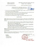 Nghị quyết Hội đồng Quản trị - Công ty cổ phần Chứng khoán IB