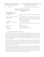 Báo cáo thường niên năm 2013 - Công ty Cổ phần Sản xuất – Xuất nhập khẩu Dệt May