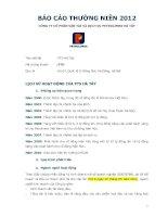 Báo cáo thường niên năm 2012 - Công ty Cổ phần Vận tải và Dịch vụ Petrolimex Hà Tây