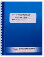 Báo cáo tài chính năm 2014 (đã kiểm toán) - Công ty cổ phần Du lịch Quốc tế Vũng Tàu