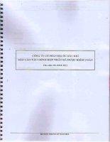 Báo cáo tài chính hợp nhất năm 2011 (đã kiểm toán) - Công ty cổ phần Địa ốc Dầu khí
