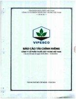 Báo cáo tài chính công ty mẹ quý 1 năm 2016 - CTCP Thuốc sát trùng Việt Nam