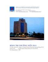 Báo cáo thường niên năm 2011 - Công ty cổ phần Du lịch Dầu khí Phương Đông