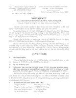 Nghị quyết Đại hội cổ đông thường niên năm 2008 - Công ty cổ phần Bê tông và Xây dựng Vinaconex Xuân Mai