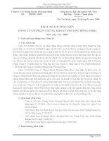 Báo cáo thường niên năm 2007 - Công ty cổ phần Chứng khoán Phương Đông